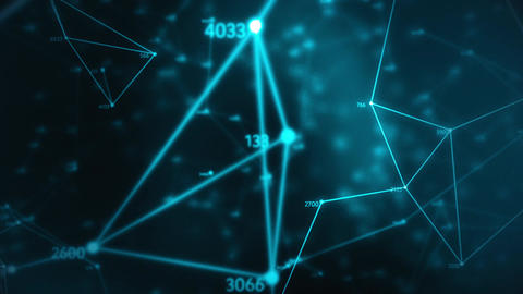 chaotic geometric composition from dots lines triangles and random numbers Animation