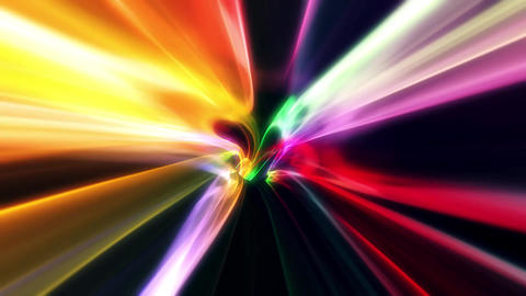 3D Colorful Curved Loopable Abstract Tunnel Vortex Background Animation Animation