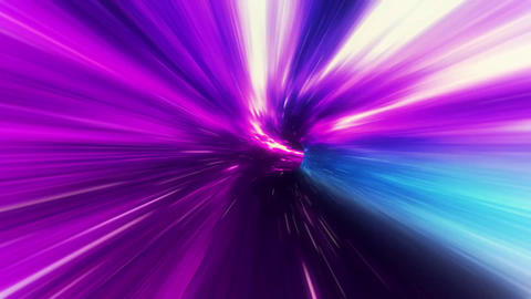 3D Purple Blue Curved Loopable Space Interstellar Wormhole Background Animation Animation