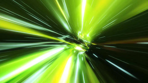 3D Green Curved Loopable Space Interstellar Wormhole Background Animation Animation