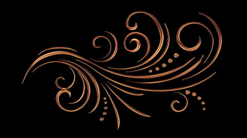 Animated Romantic Picturesque Copper Element with Alpha Channel 05 Animation