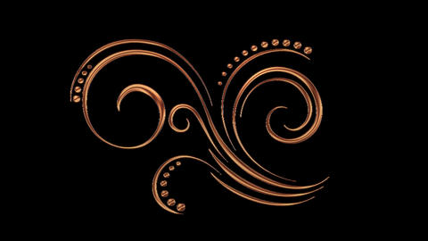 Animated Romantic Picturesque Copper Element with Alpha Channel 08 Animation