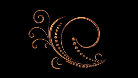 Animated Romantic Picturesque Copper Element with Alpha Channel 11 Bild