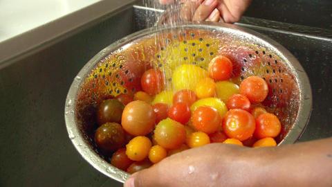 Washing Tomatoes Slow Motion Image