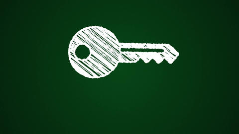 Chalk-key-green Animation