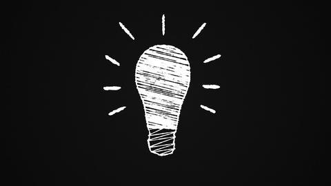Chalk-light-bulb-black Animation
