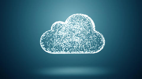 cloud computing, slow moving communicated dots and lines Animation