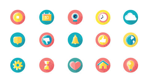 Social Media Icons Animation