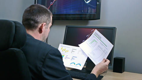 Businessman Receiving Reports stock footage