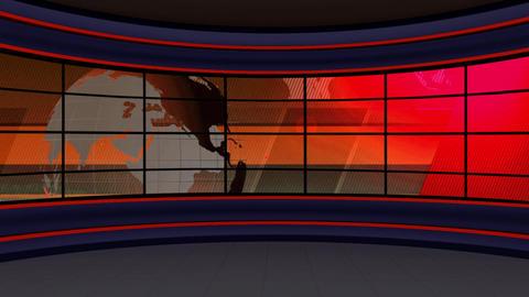News TV Studio Set 98 - Virtual Background Loop Live Action