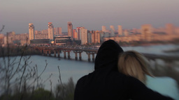 A guy and a girl on a romantic date Stock Video Footage