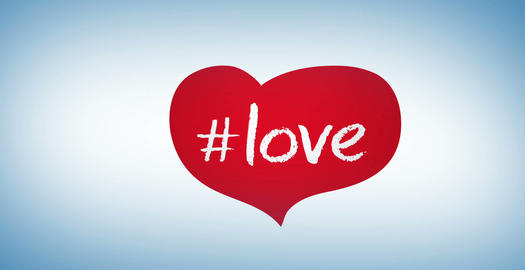 Hashtag Love stock footage