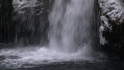 Waterfall in winter on Iceland Footage