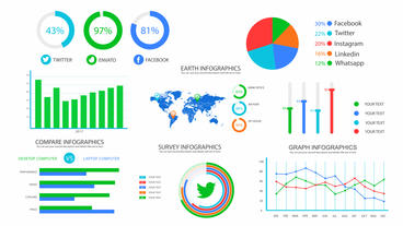 Mega Infographics Pack After Effects Templates