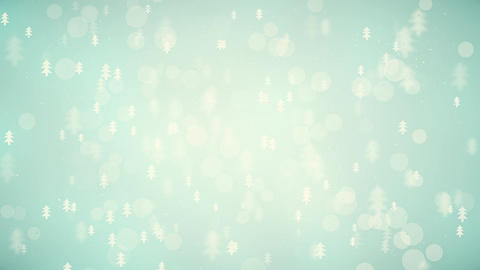 Slow motion of the blurred and glowing small christmas trees CG動画素材