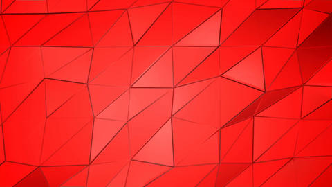 Red scarlet poly abstract animation background Animation