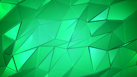 Green crystals poly abstract animation background Animation