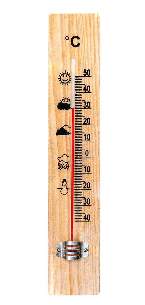 One Wooden Thermometer Photo