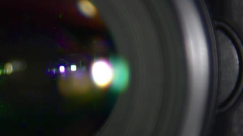Glass lens, close-up Live Action
