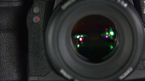 The shutter of the camera Live Action