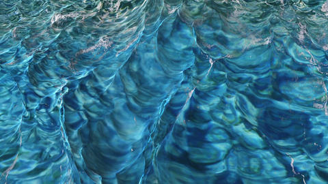 Digtal 3D Animation of violent Ocean Water Image