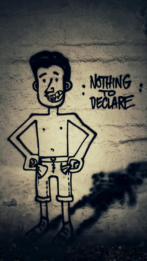 Nothing to declare Foto
