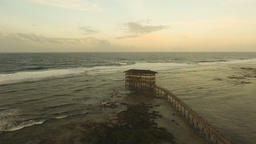 Cloud Nine surf point aerial view. Siargao, Philippines. Cloud 9 Footage