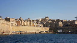 The Valletta skyline as seen from the see. Malta 画像