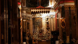 Interior of St. Paul's Cathedral or the Mdina Cathedral, a Roman Catholic cathed Footage