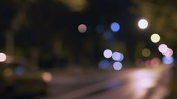 City lights and cars, blurred Footage