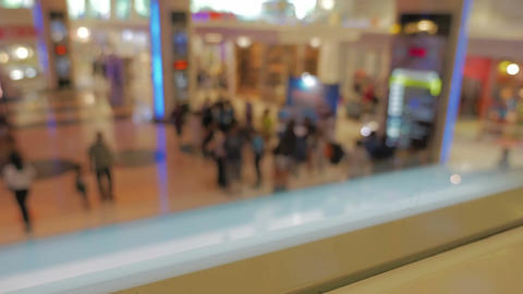 defocused crowd people walking people in the shopping mall center Footage