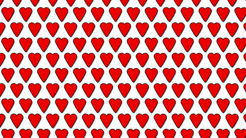 Red Hearts Love Valentine Animated Shape Background