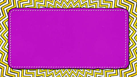 Yellow Stripes Rounds Zig Zag Pink Rectangle Shape Glamour Background For Text Animation