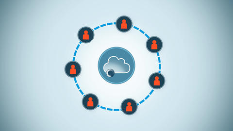 Abstract access Cloud service, Stock Animation