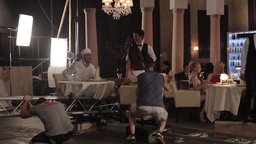 Shooting scenes for the film in motion with the actors Footage