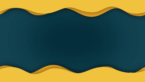 Abstract yellow flat wave animation Animation