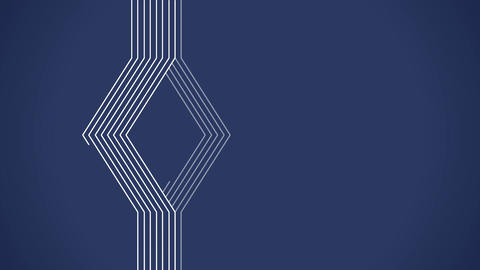 Geometrical lines flat animation with blue solid Stock Video Footage