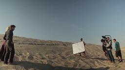 Shooting movie scenes in the desert Footage