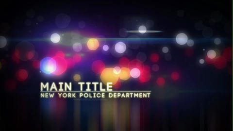 Police Story After Effects Template