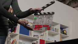 Movie Clapper Clap On Shooting The Film stock footage