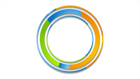 Colorful abstract corporate circles logo video animation Animation