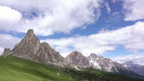 Clouds over the Dolomites. Time Lapse Filmmaterial