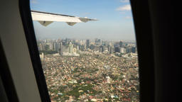 View from an airplane window.Manila, Philippines Footage