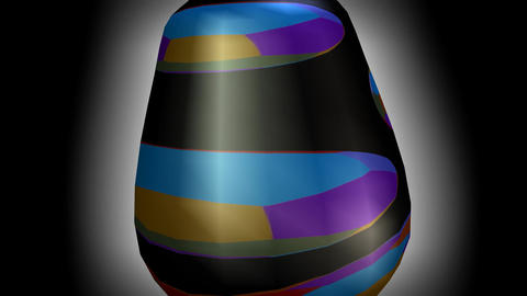 3d artistic vase with modern texture, glass object rotating on illuminated backg Animation