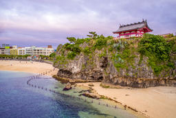 Landscape of Naminoue Shrine in okinawa Foto