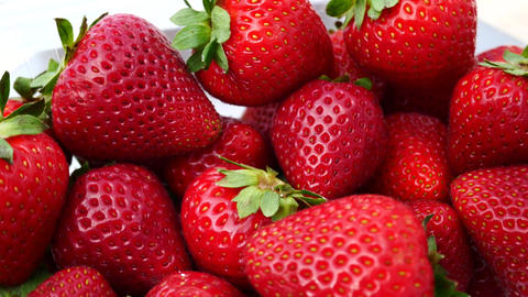 Fresh Strawberries Isolated on the White Background Archivo