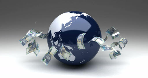 Global Business with South African Rands Animation