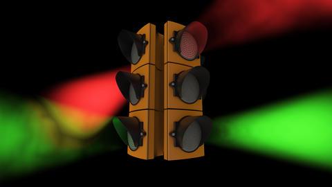Traffic Lights VJ Loop Disco Footage CG動画素材
