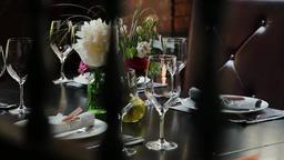 Festive wedding table Footage