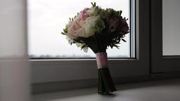 Wedding bouquet of the bride Footage